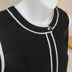 Liz Claiborne Career top. Black and white tank top